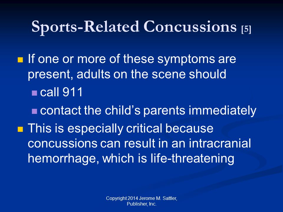 Sports-Related Concussions [5]